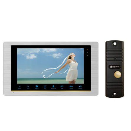 Комплект Видеодомофон Optimus VM-10 (silver) и вызывная панель DS-700