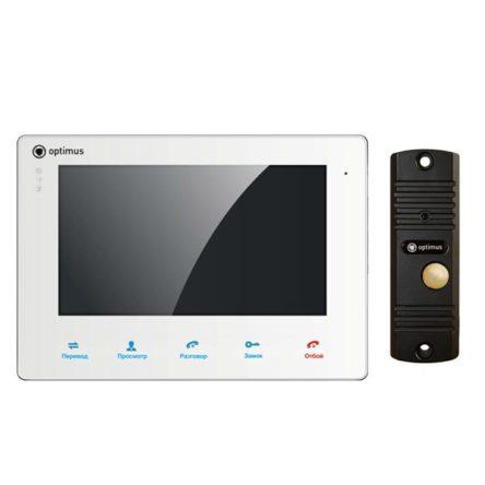 Комплект Видеодомофон Optimus VM-E10 (white) и вызывная панель DS-700