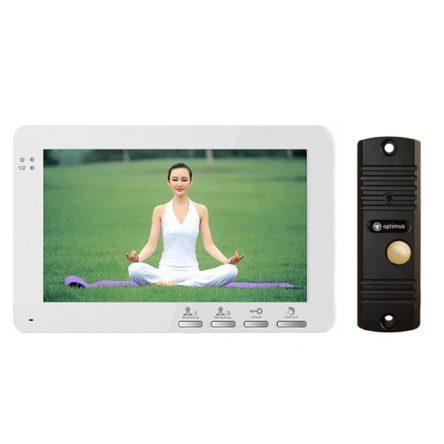 Комплект Видеодомофон Optimus VM-E7 (white) и вызывная панель DS-700
